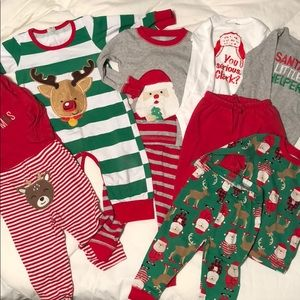 Other - Infant Holiday PJ Bundle - 6-12mo